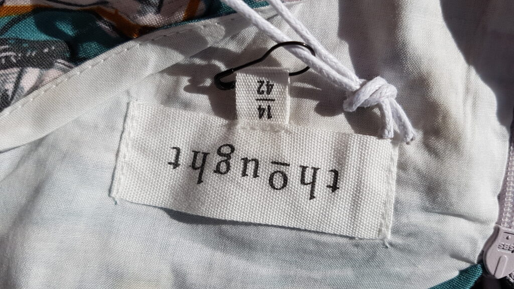 Thought Clothing Dress Label